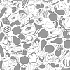 Vector clipart: Meal background