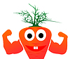 Vector clipart: Mr. carrots