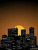 Vector clipart: Night city