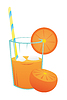 Vector clipart: Orange juice