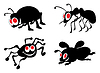 Vector clipart: Ridiculous insects