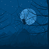 Vector clipart: Spider at night