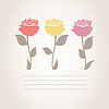 Vector clipart: Three roses
