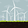 Vector clipart: Wind power