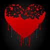 Vector clipart: Bloody heart