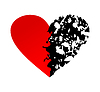 Vector clipart: Broken heart