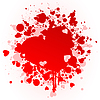 Vector clipart: Heart stain