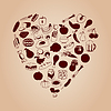 Vector clipart: Heart of meal