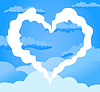 Vector clipart: Heart in sky
