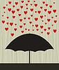 Vector clipart: Heart rain