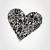 Vector clipart: Heart of houses