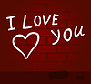 Vector clipart: I love you
