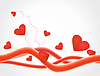 Vector clipart: Love background