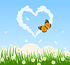 Vector clipart: Love cloud
