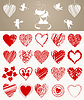 Vector clipart: Love icons