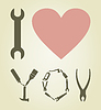 Vector clipart: Love tool