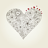 Vector clipart: Natural heart