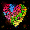 Vector clipart: Neon heart