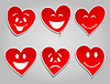 Vector clipart: Smile hearts