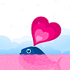 Vector clipart: Whale love