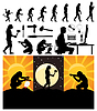 Vector clipart: Evolution of person