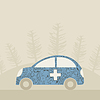 Vector clipart: Medical car