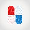 Vector clipart: Medicine tablet