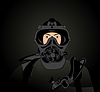 Vector clipart: Person in protective suit