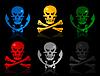 Vector clipart: Skull icons