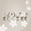 Vector clipart: Music of spring