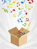 Vector clipart: Musical box