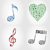 Vector clipart: Musical icons