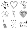 Vector clipart: Musical note