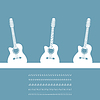 Vector clipart: Three guitars