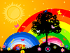 Vector clipart: Bright sky