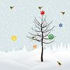 Векторный клипарт: Рождественский пейзаж