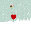 Vector clipart: Christmas landscape