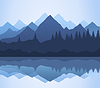 Vector clipart: Mountains