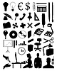 Vector clipart: Office subjects