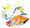 Vector clipart: School supplies
