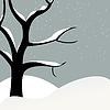 Vector clipart: Snowfall