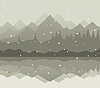 Vector clipart: Winter mountains