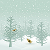 Vector clipart: Winter wood