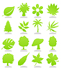 Vector clipart: Icons of plant