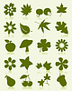 Vector clipart: Icons of plants