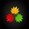Vector clipart: Three leaves