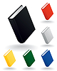 Vector clipart: Book icons
