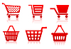 Vector clipart: Icon of food basket