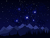Vector clipart: Night in mountains