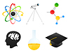 Vector clipart: Science icons